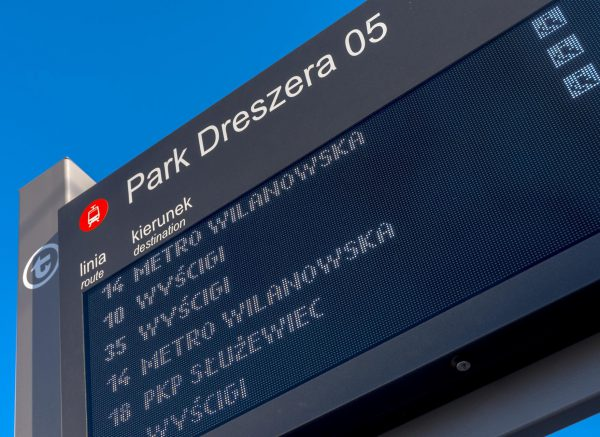 Passenger Information Displays provided by Dysten