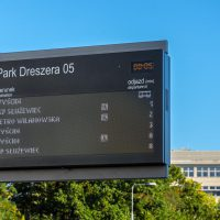 Twenty Passenger Information Displays at Warsaw Trams stops