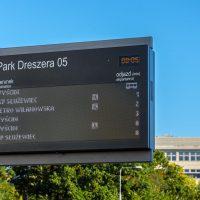 Dynamic Passenger Information Boards and Displays in LED RGB technology - manufacturer by Dysten, awarded European company, Poland. Tablice wyświetlacze informacji pasażerskiej LED RGB SDIP