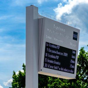 Tablica wyświetlacze dynamicznej informacji pasażerskiej LED RGB