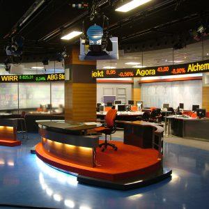 LED TV studio scenography