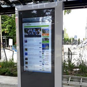 Smartcity Information Totems, info-kiosks at stations, airports