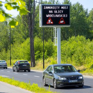 Variable Message Signs in Gliwice