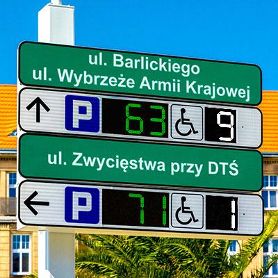 LED RGB Parking Displays European manufacturer ISO9001